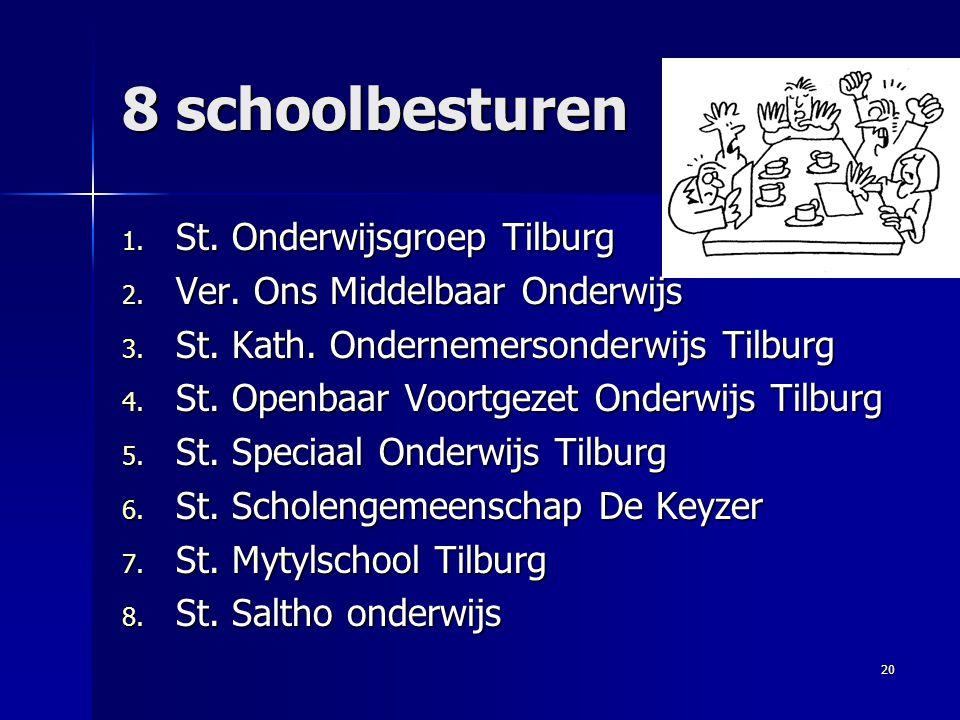 8 schoolbesturen St. Onderwijsgroep Tilburg