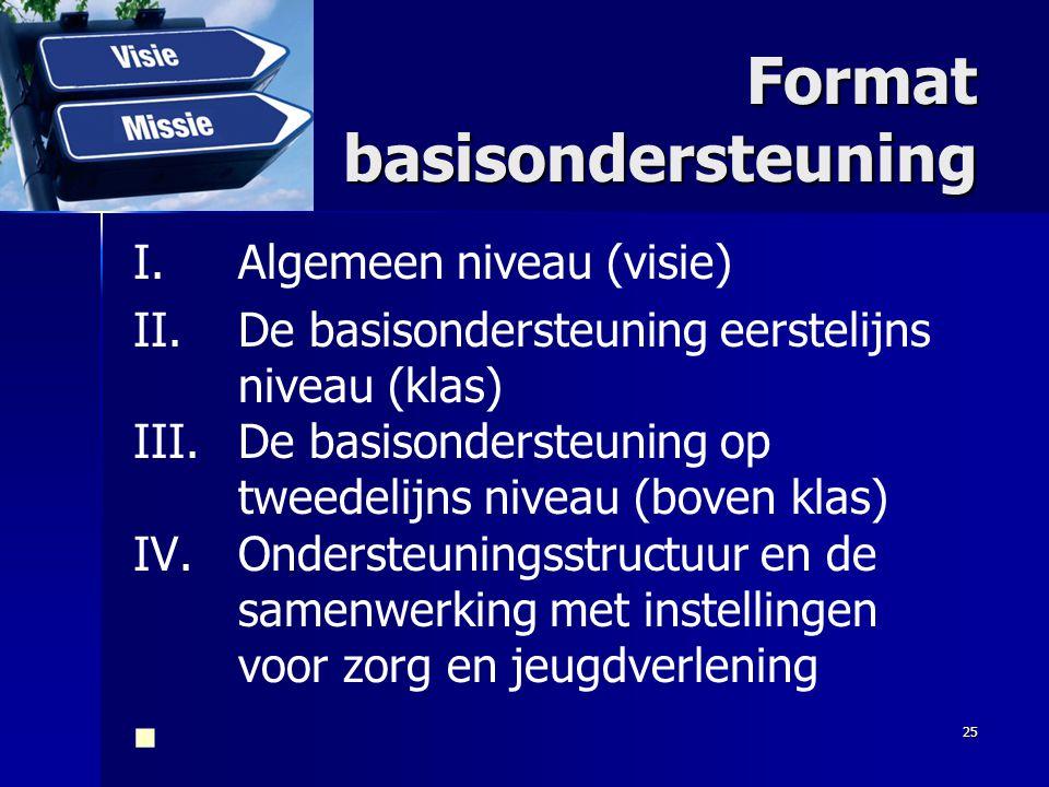 Format basisondersteuning
