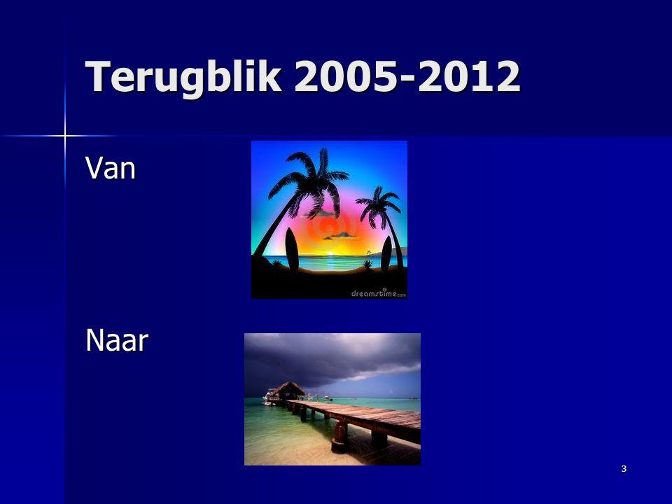 Terugblik 2005-2012 Van Naar