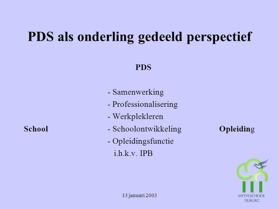 PDS als onderling gedeeld perspectief
