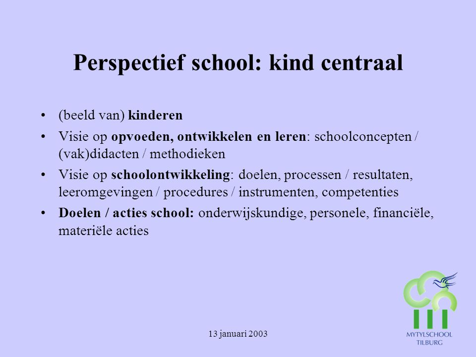 Perspectief school: kind centraal