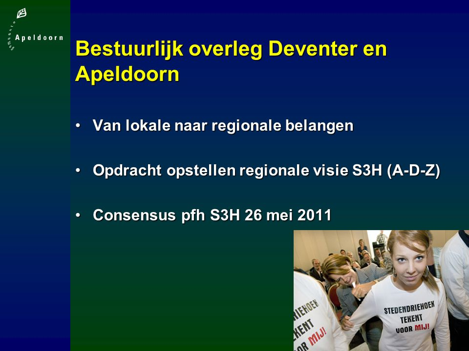 Bestuurlijk overleg Deventer en Apeldoorn