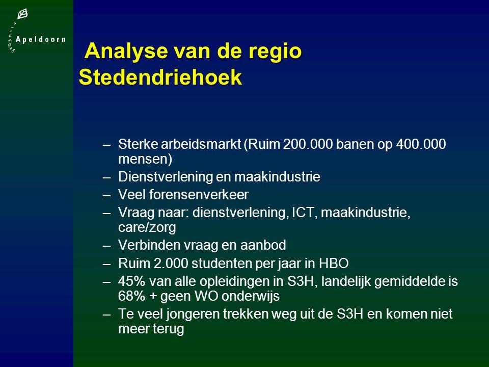 Analyse van de regio Stedendriehoek