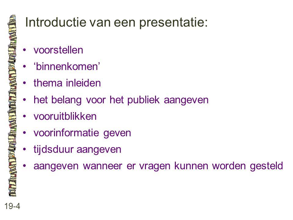 Introductie van een presentatie: