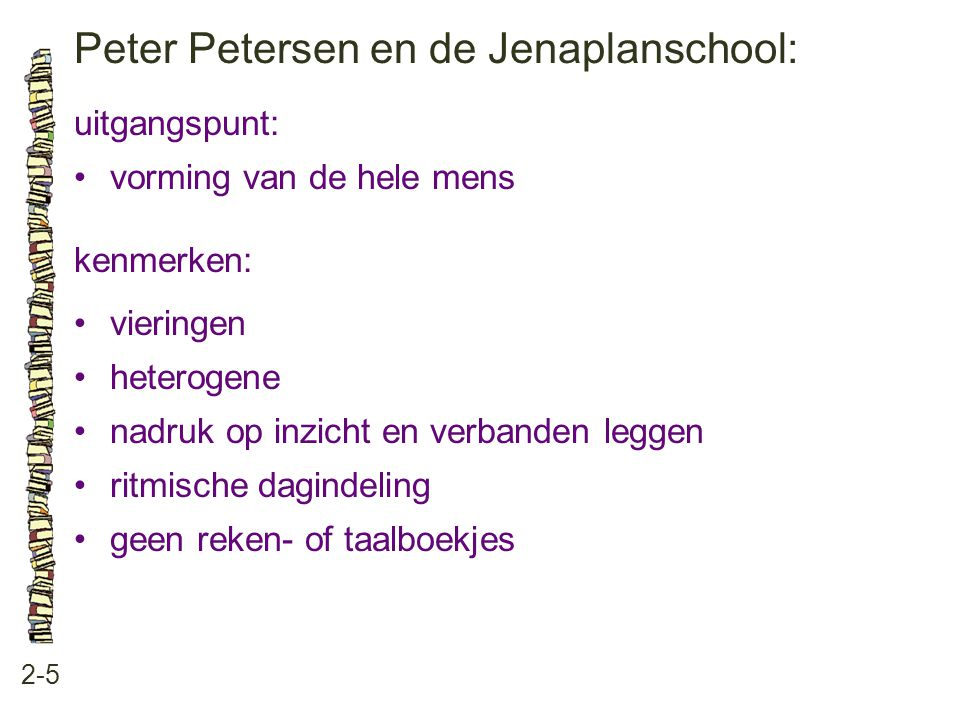 Peter Petersen en de Jenaplanschool: