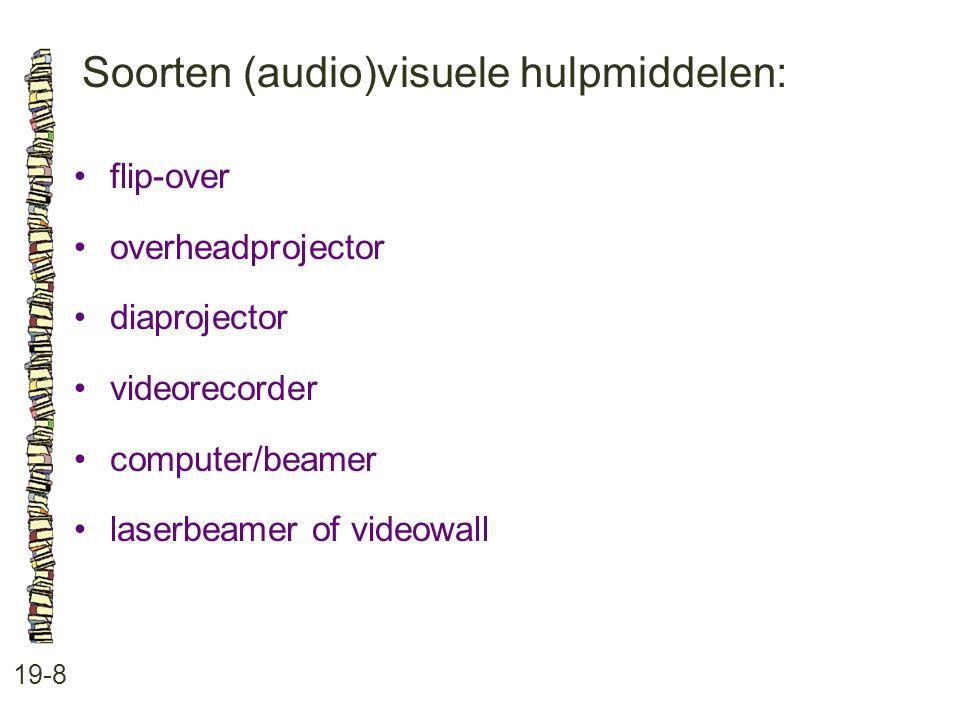 Soorten (audio)visuele hulpmiddelen: