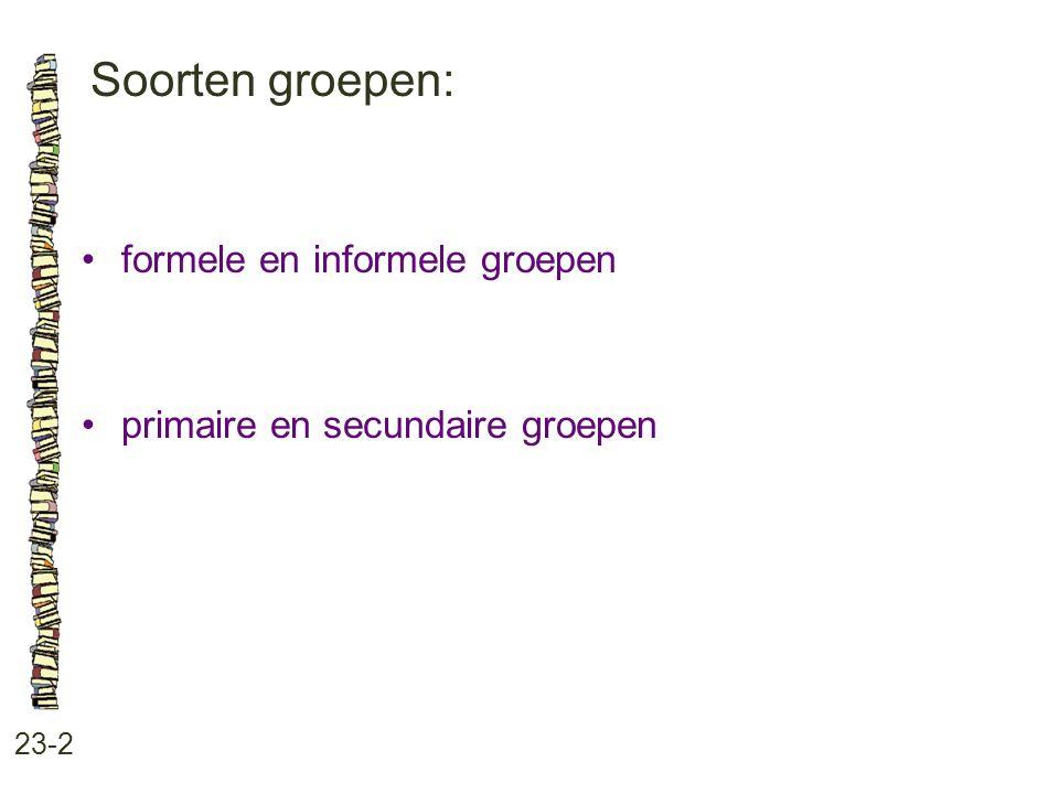 Soorten groepen: formele en informele groepen