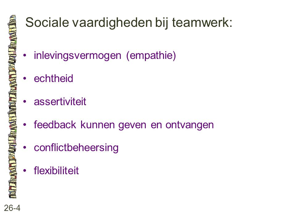 Sociale vaardigheden bij teamwerk: