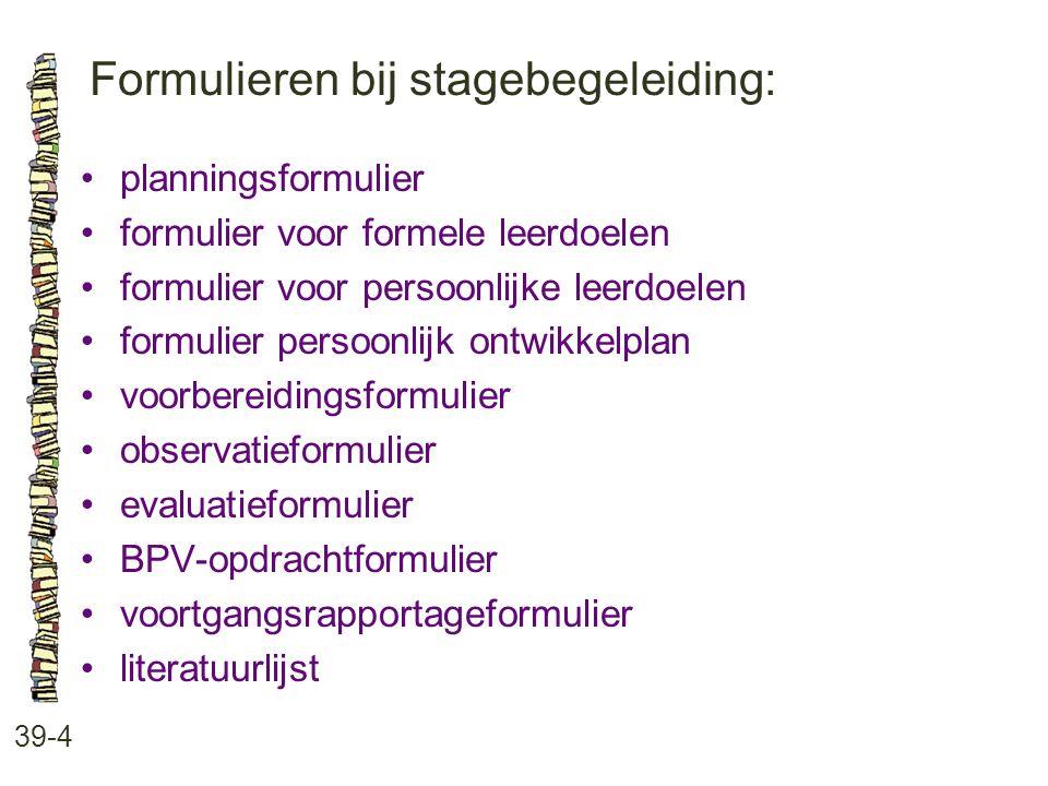 Formulieren bij stagebegeleiding: