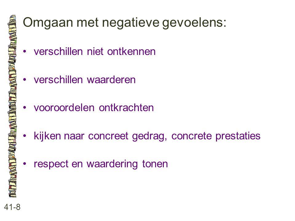 Omgaan met negatieve gevoelens: