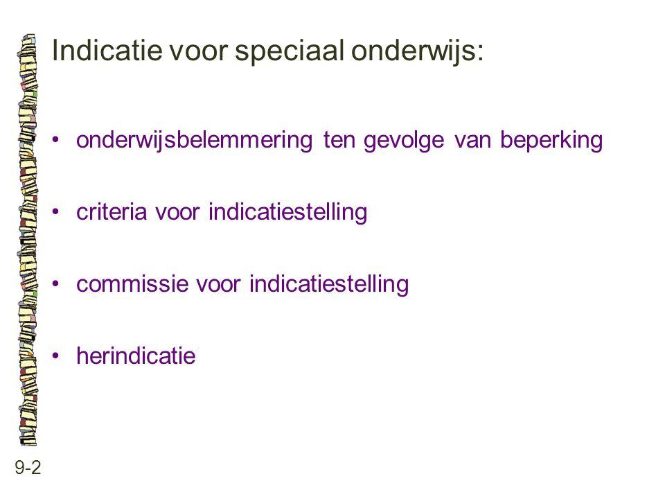 Indicatie voor speciaal onderwijs: