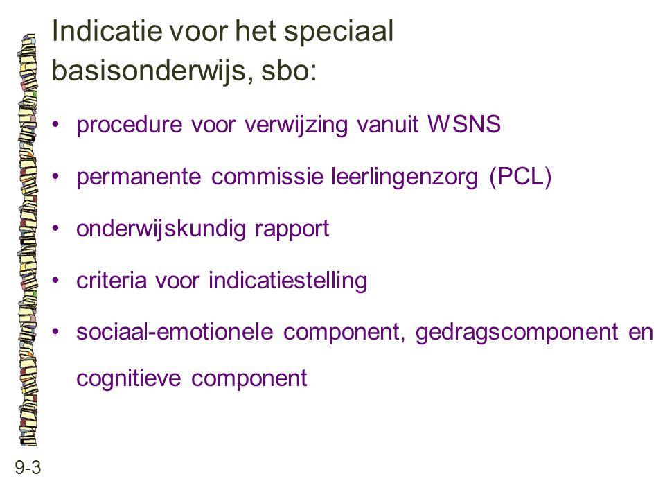 Indicatie voor het speciaal basisonderwijs, sbo: