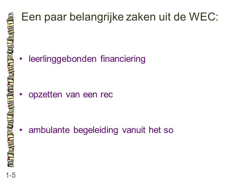 Een paar belangrijke zaken uit de WEC: