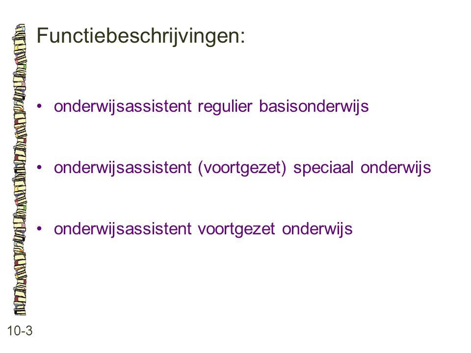 Functiebeschrijvingen: