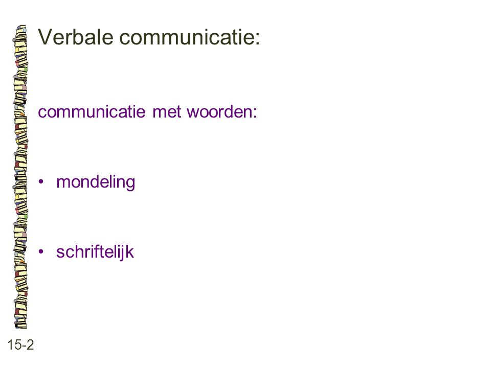 Verbale communicatie: