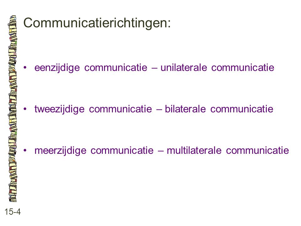 Communicatierichtingen: