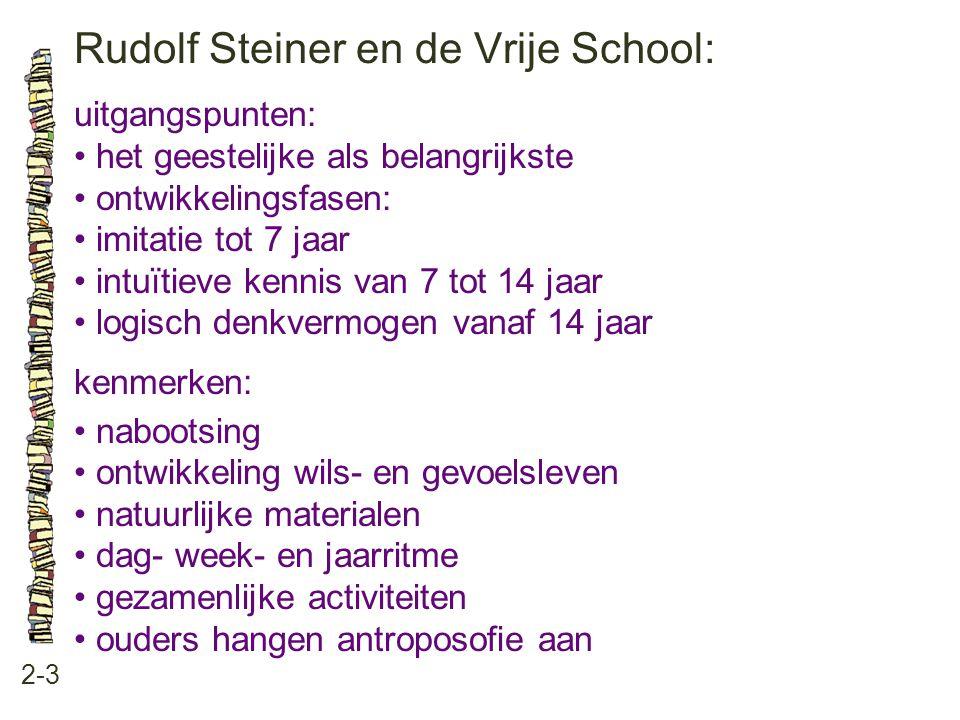 Rudolf Steiner en de Vrije School: