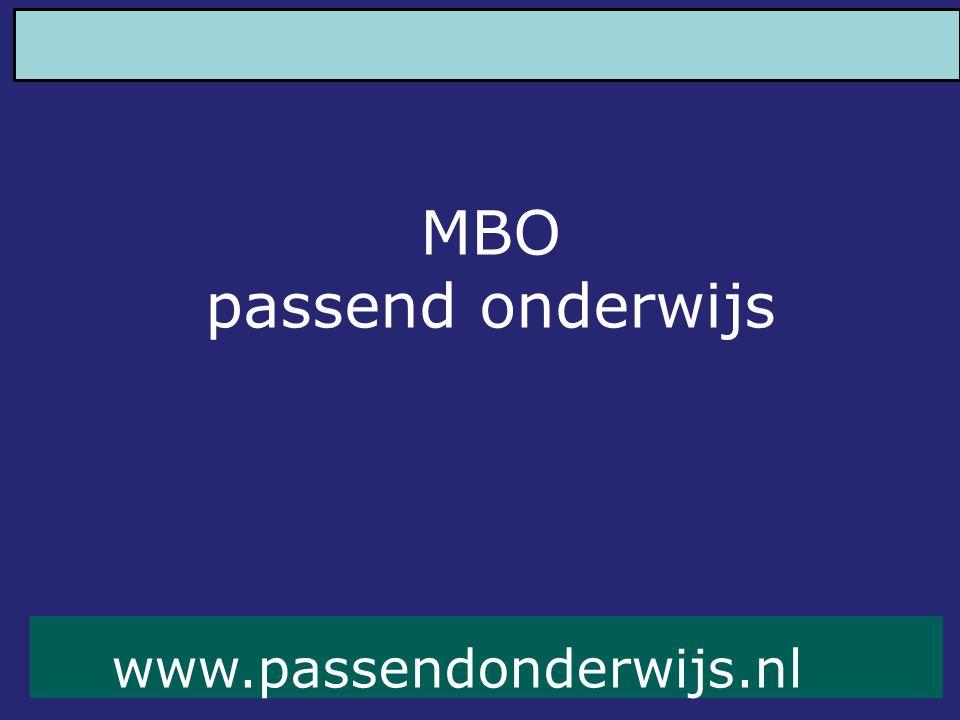 MBO passend onderwijs www.passendonderwijs.nl