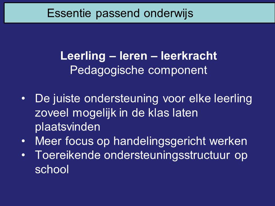 Leerling – leren – leerkracht