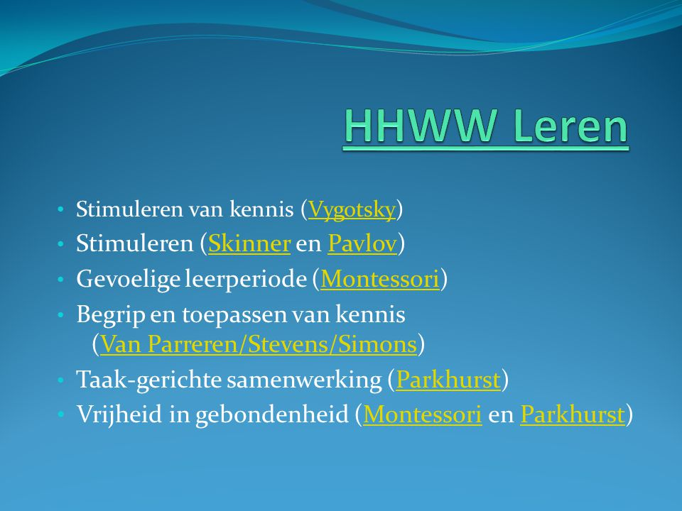 HHWW Leren (Van Parreren/Stevens/Simons)