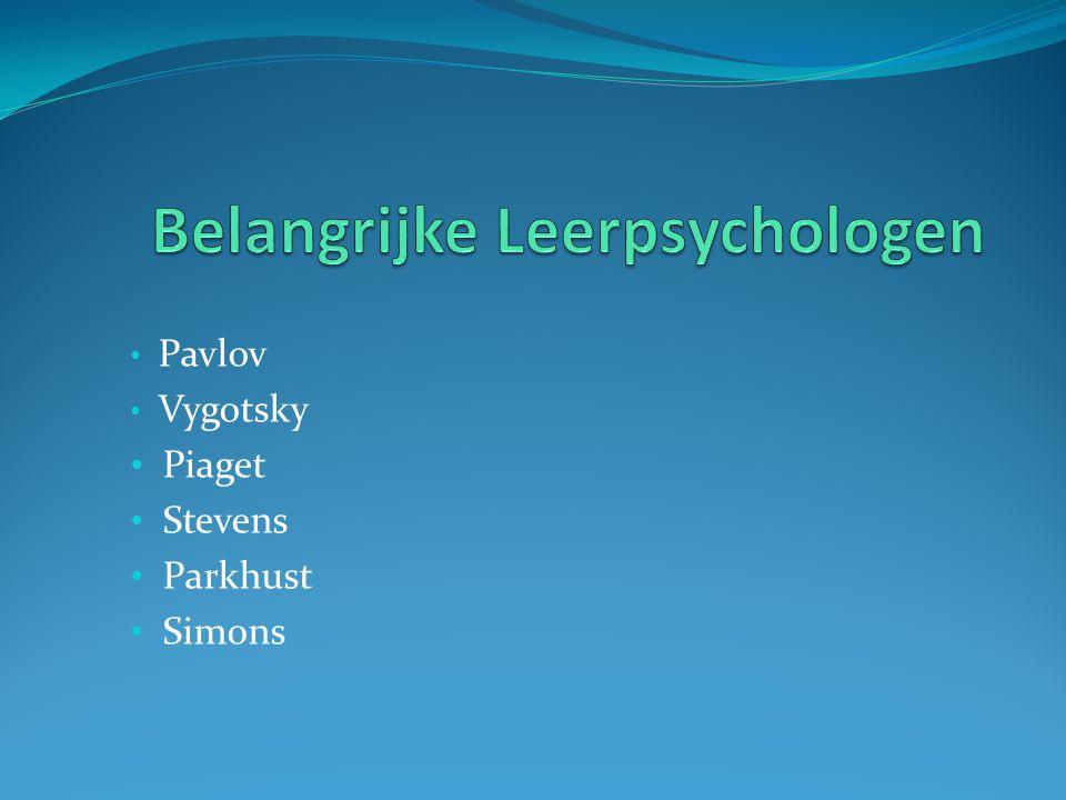 Belangrijke Leerpsychologen
