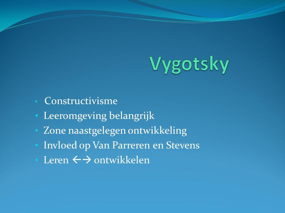 Vygotsky Leeromgeving belangrijk Zone naastgelegen ontwikkeling
