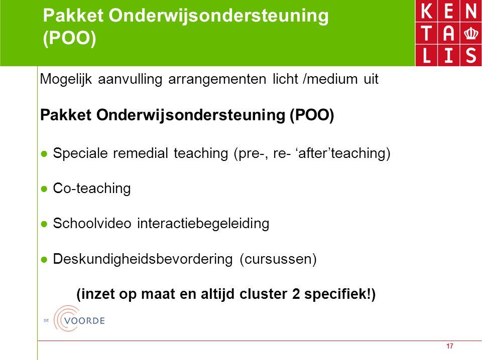 Pakket Onderwijsondersteuning (POO)