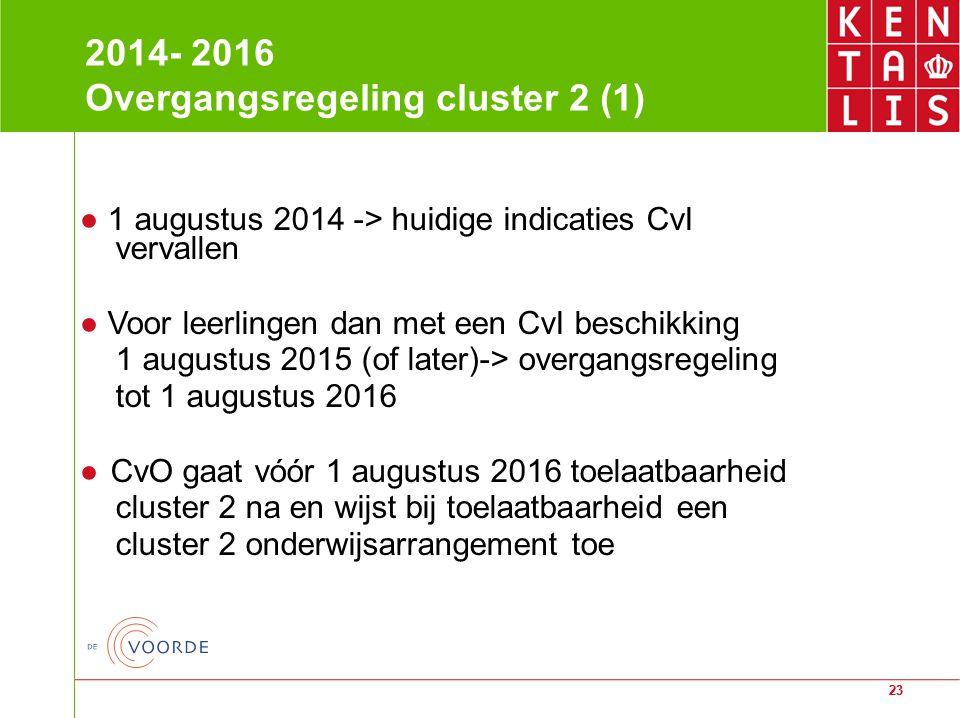 2014- 2016 Overgangsregeling cluster 2 (1)