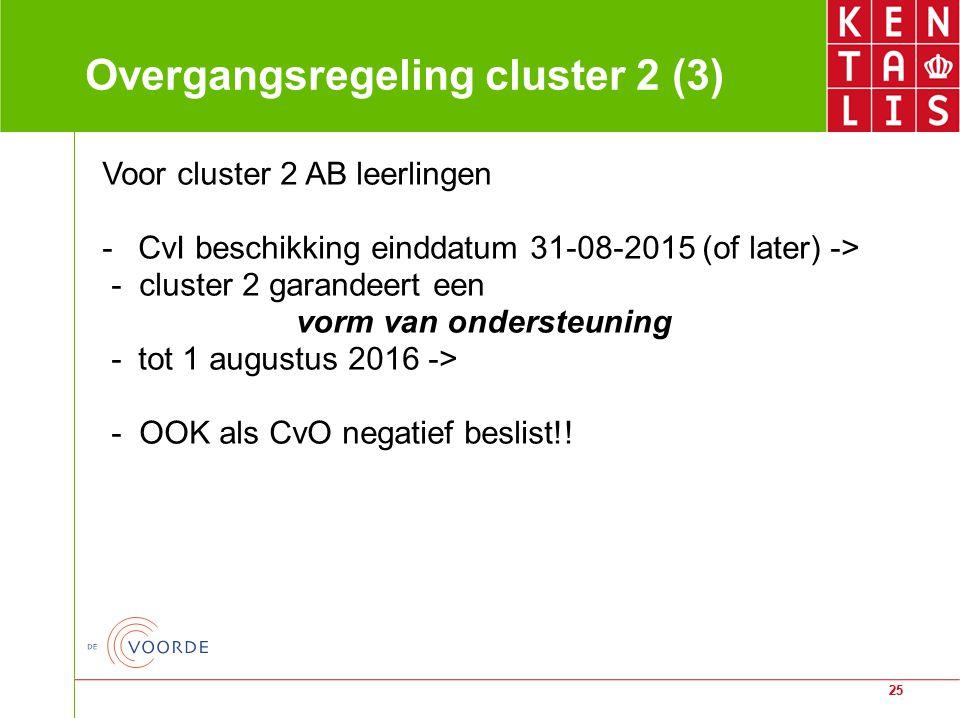 Overgangsregeling cluster 2 (3)