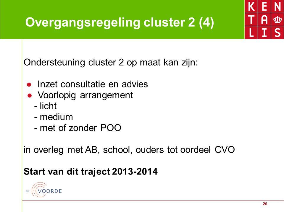 Overgangsregeling cluster 2 (4)