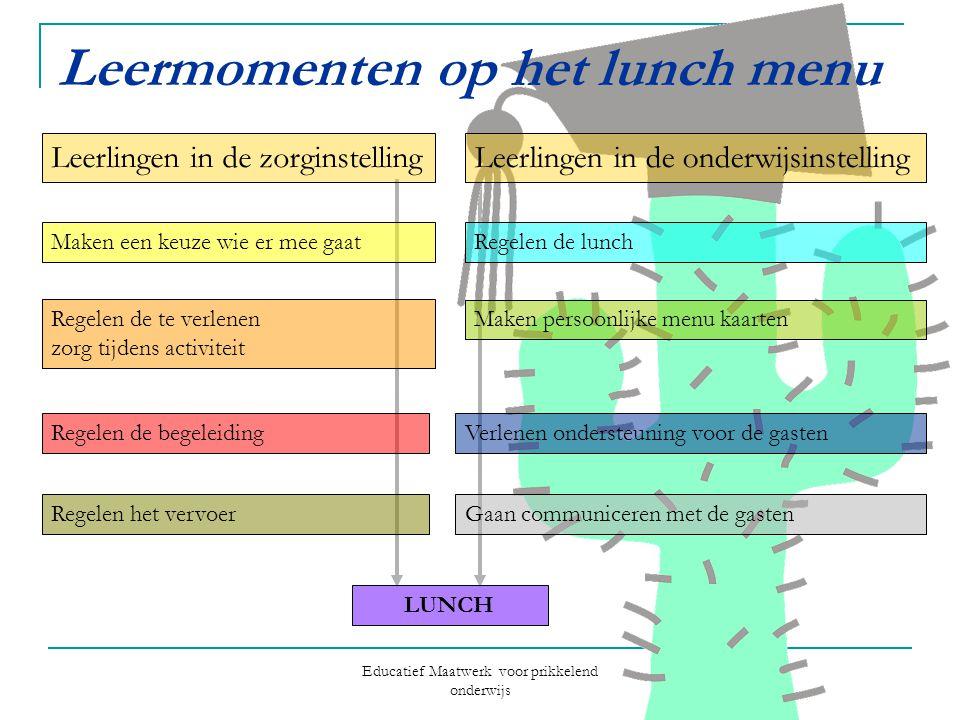 Leermomenten op het lunch menu