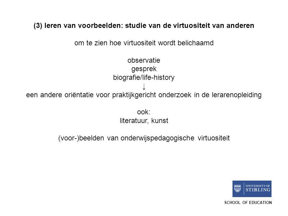 (3) leren van voorbeelden: studie van de virtuositeit van anderen