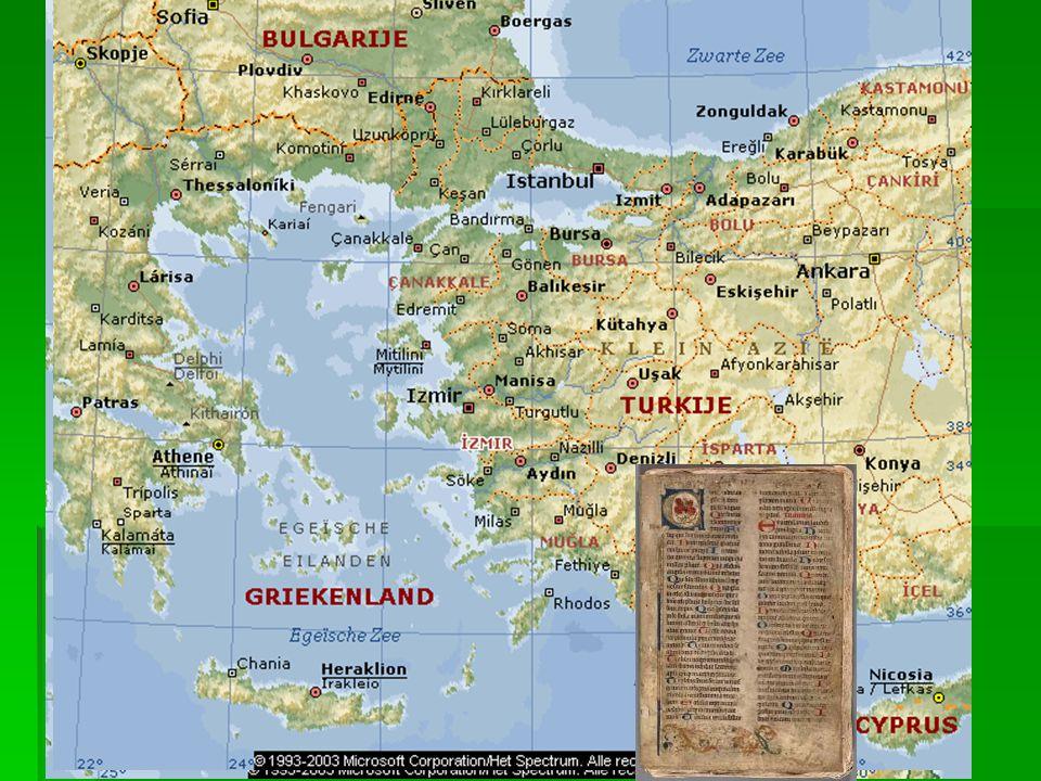 Perkament en papier Perkament: genoemd naar Pergamum (een stad in Turkije). Gemaakt van dierenhuiden.