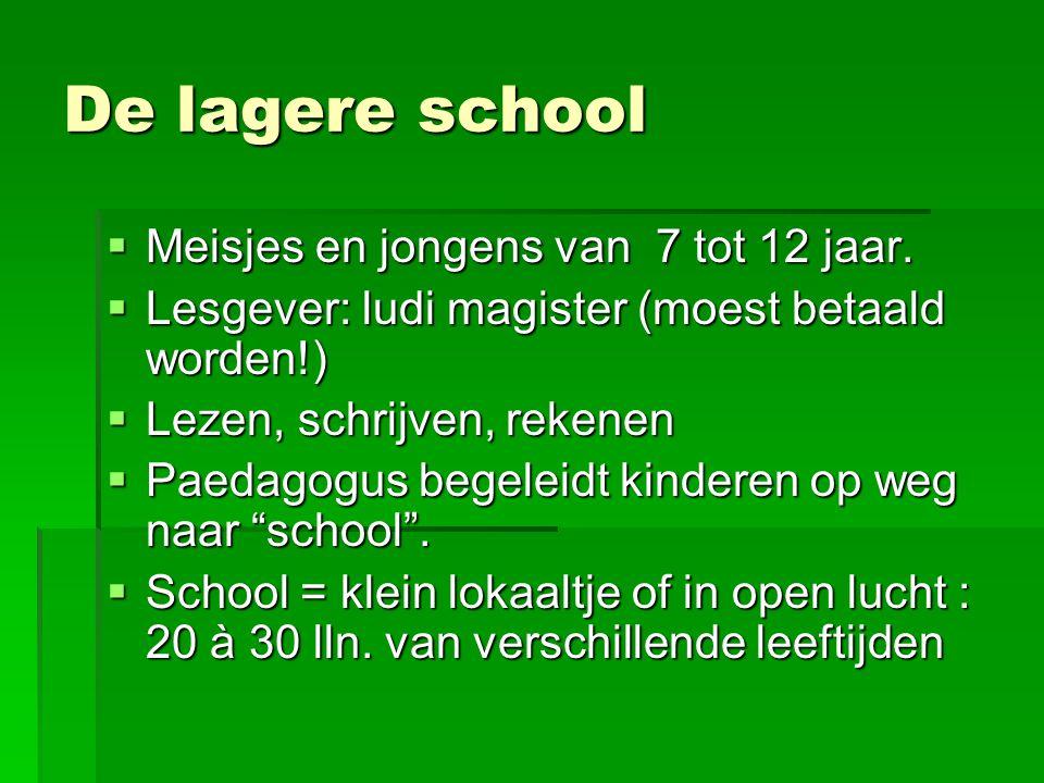 De lagere school Meisjes en jongens van 7 tot 12 jaar.