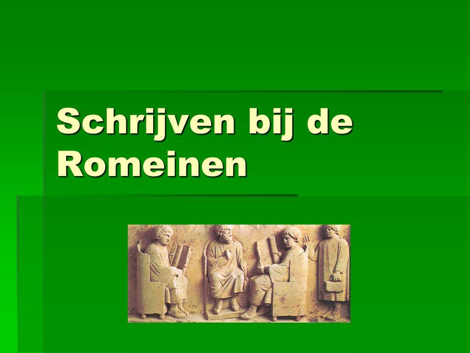 Schrijven bij de Romeinen