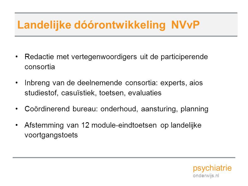 Landelijke dóórontwikkeling NVvP