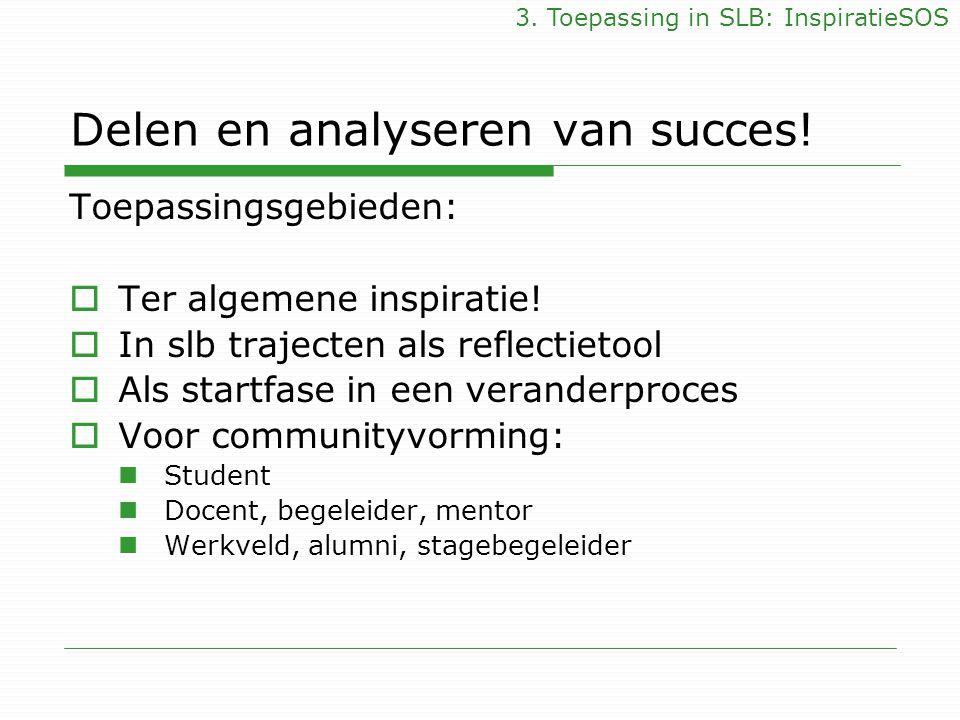 Delen en analyseren van succes!