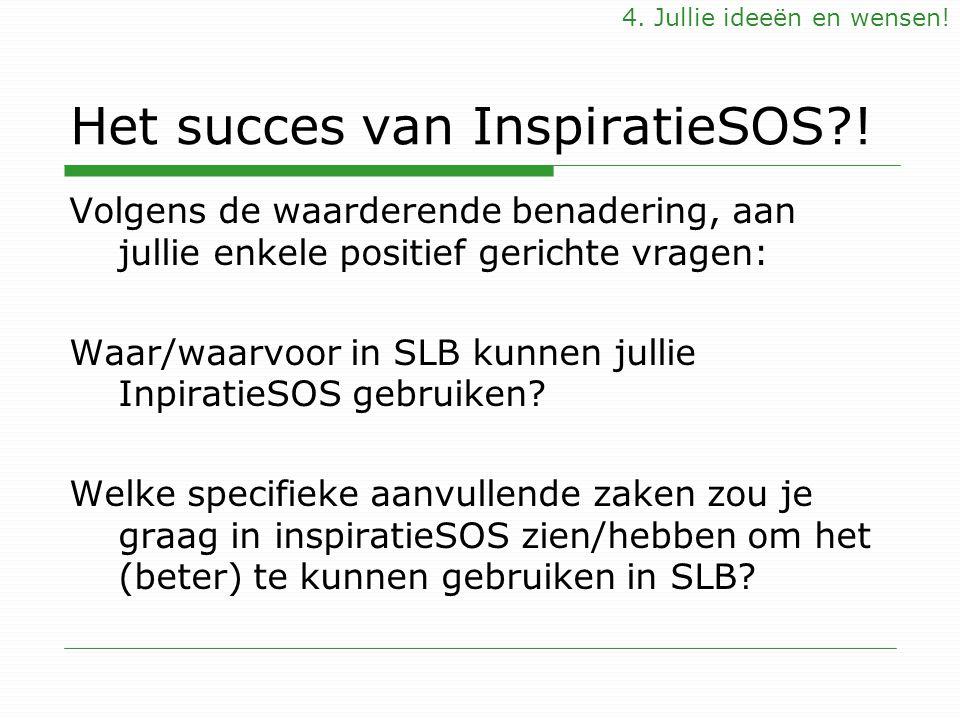 Het succes van InspiratieSOS !