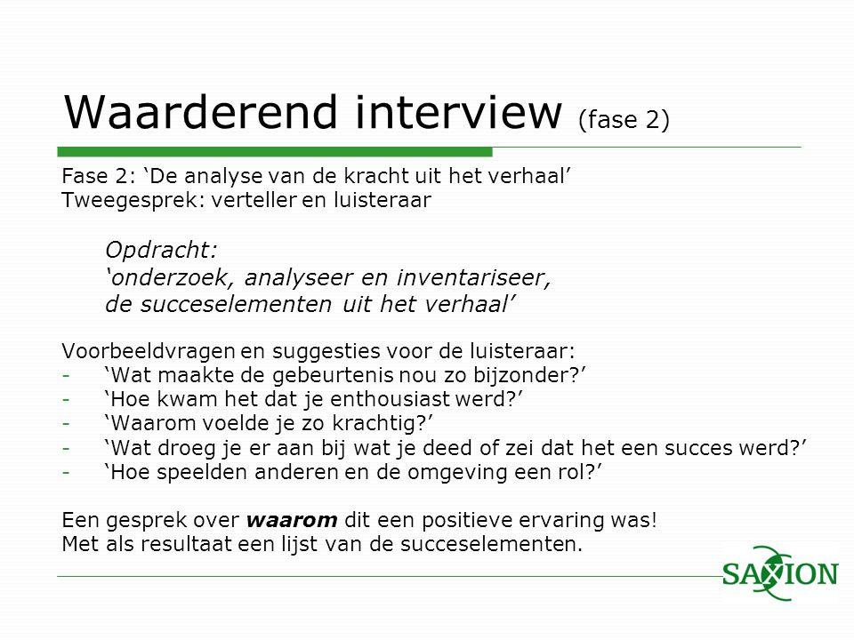 Waarderend interview (fase 2)