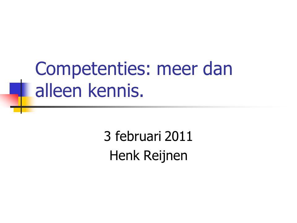 Competenties: meer dan alleen kennis.
