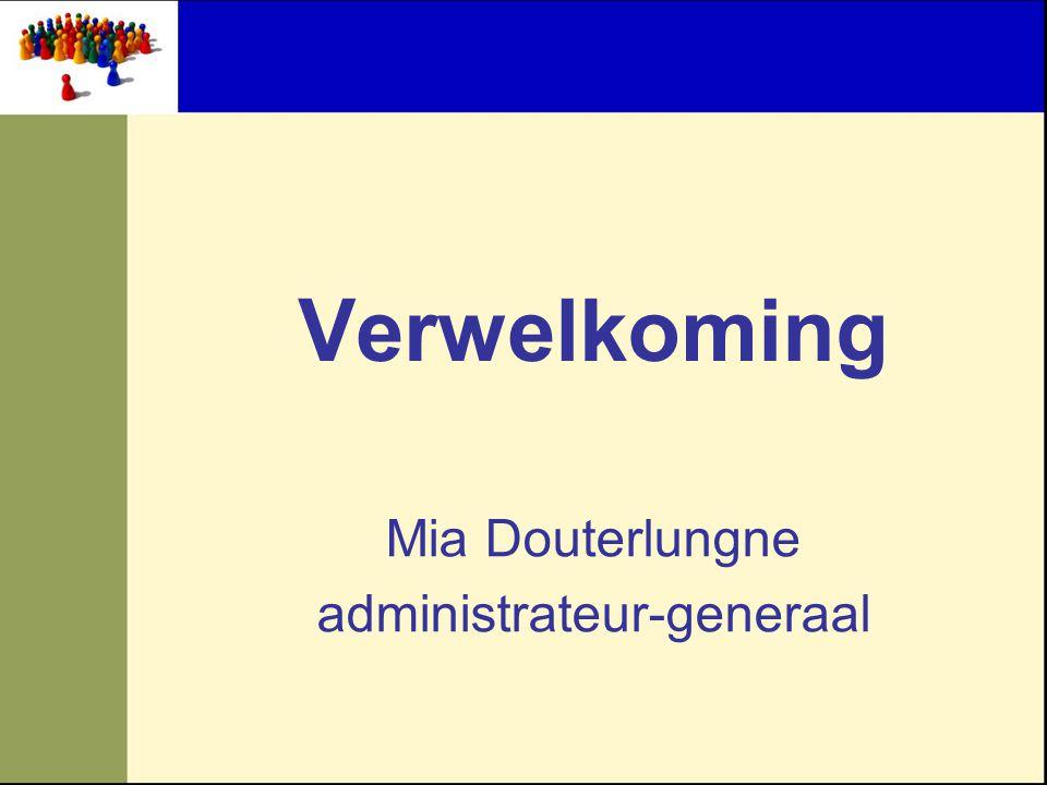 Mia Douterlungne administrateur-generaal