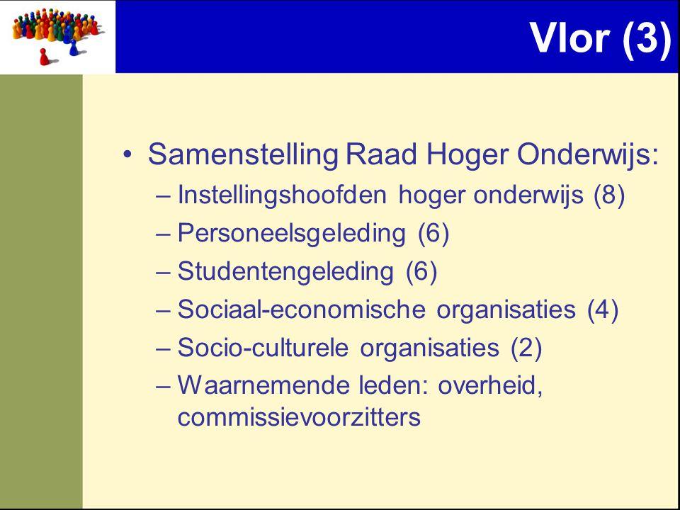 Vlor (3) Samenstelling Raad Hoger Onderwijs: