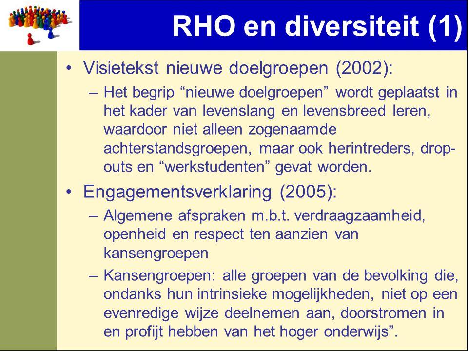 RHO en diversiteit (1) Visietekst nieuwe doelgroepen (2002):