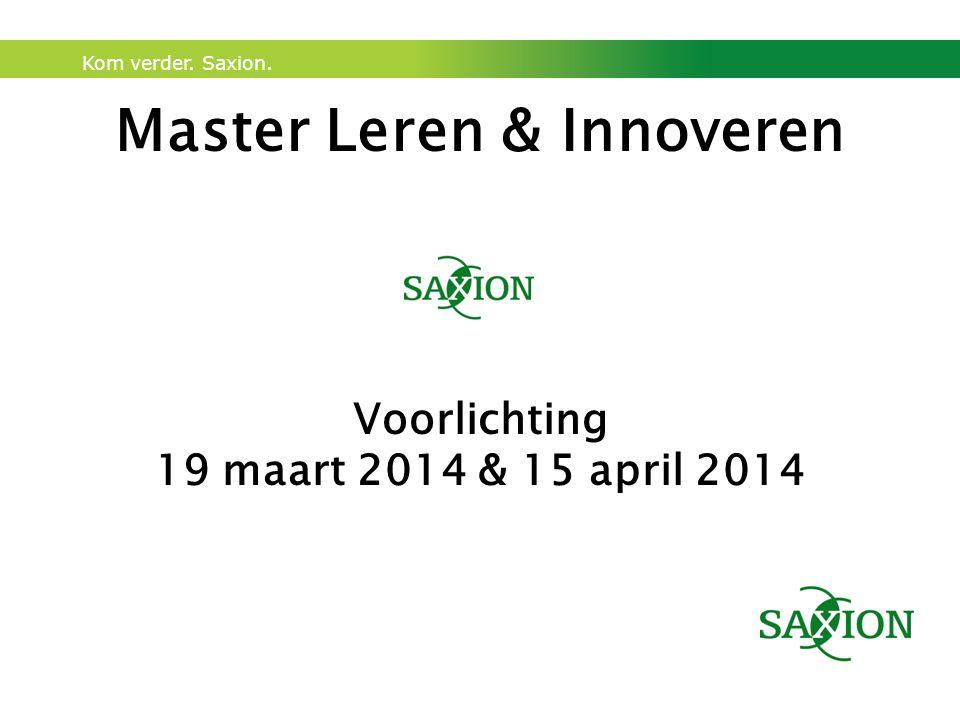 Master Leren & Innoveren