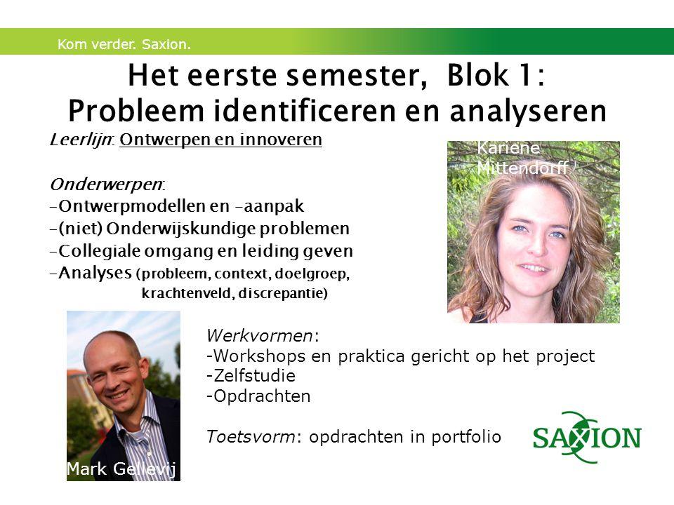 Het eerste semester, Blok 1: Probleem identificeren en analyseren