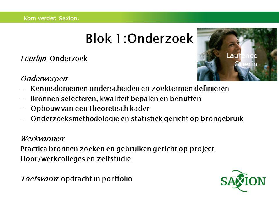 Blok 1:Onderzoek Laurence Leerlijn: Onderzoek Guerin Onderwerpen:
