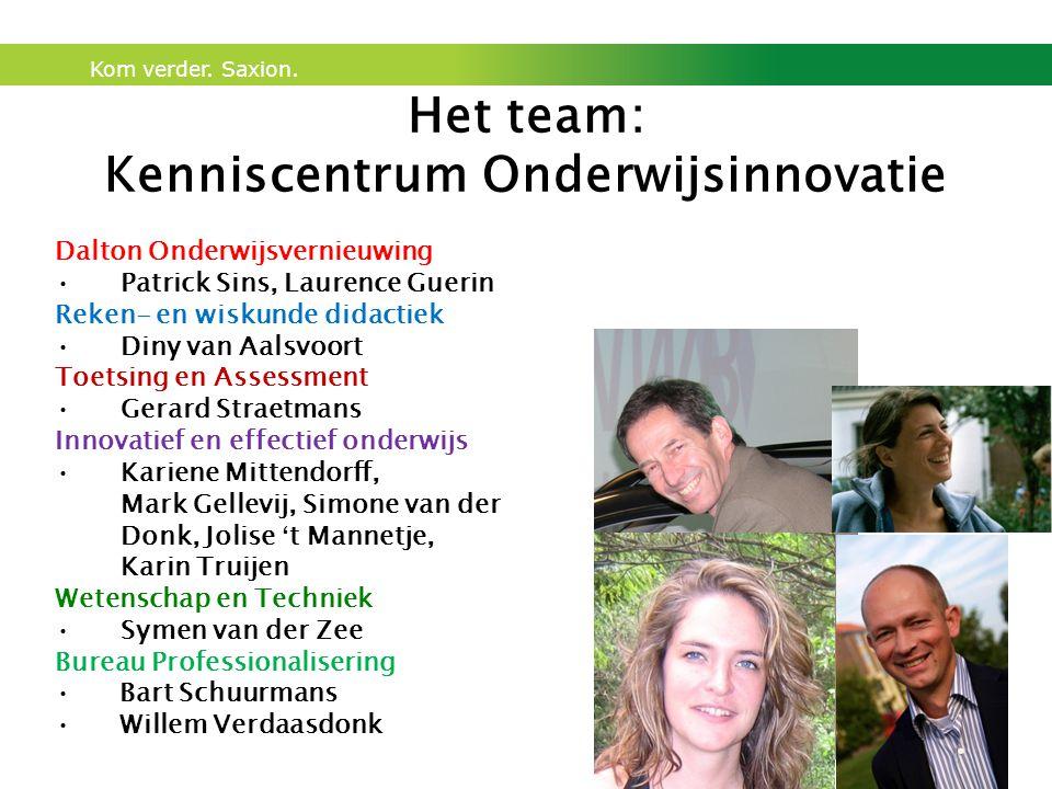 Het team: Kenniscentrum Onderwijsinnovatie