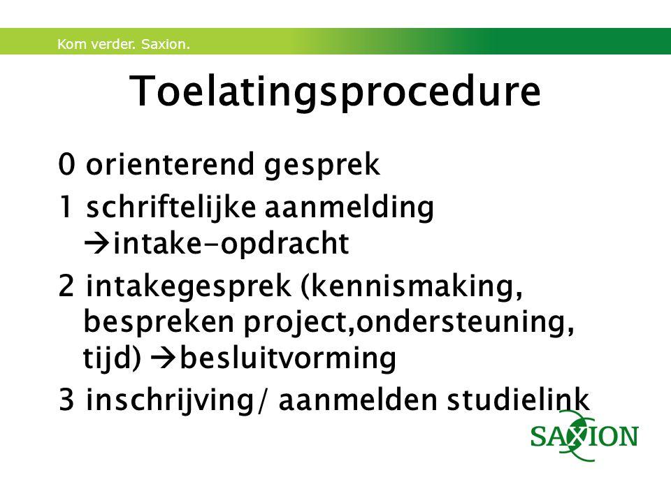 Toelatingsprocedure