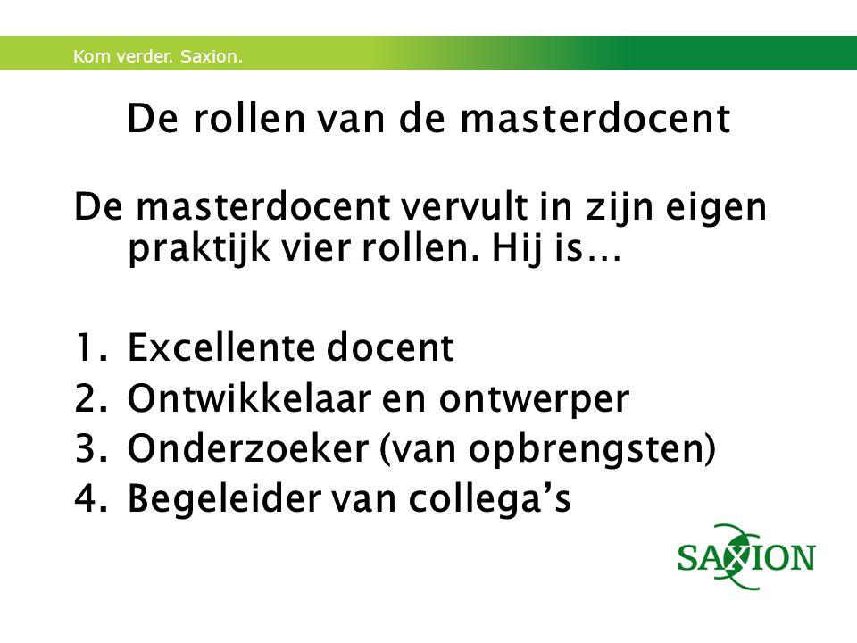 De rollen van de masterdocent