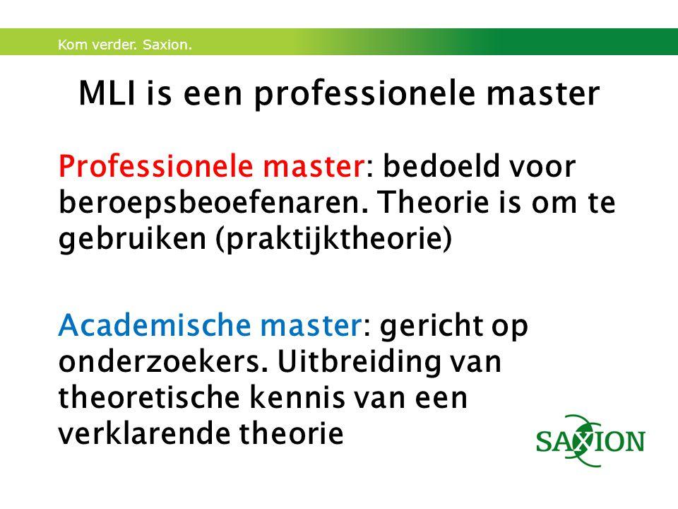 MLI is een professionele master